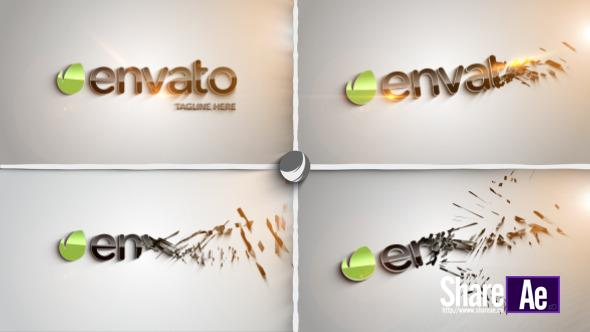 Videohive Clean Part Logo Intro