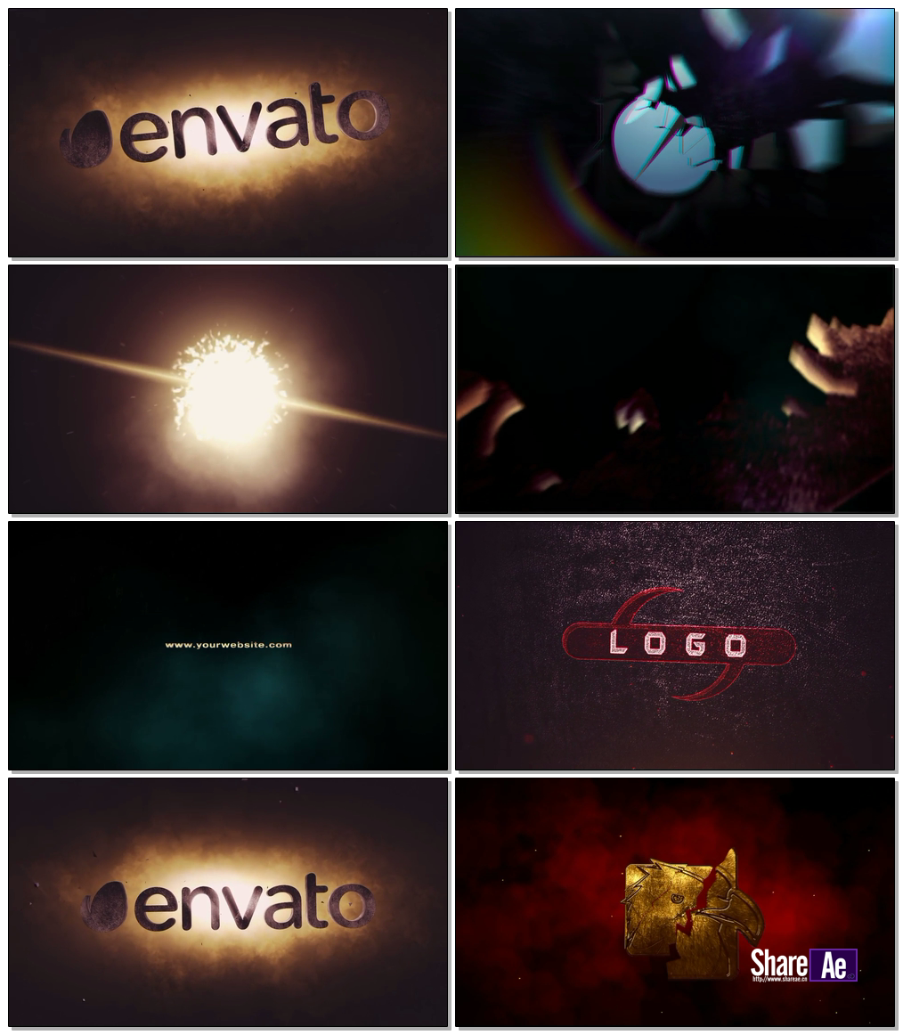 6组史诗级震撼logo演绎AE模板 videohive Cinematic Logo Pack