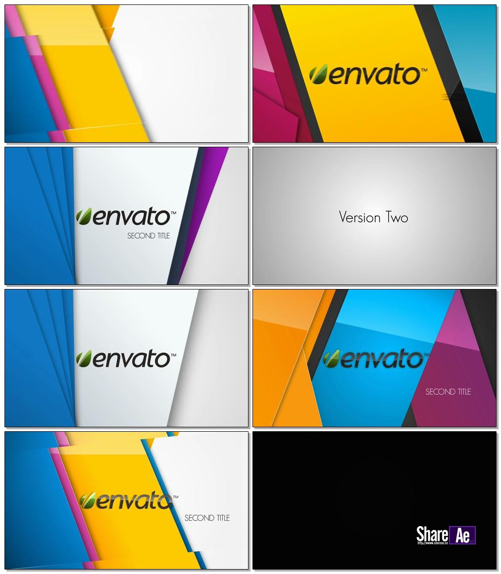 多彩时尚清新Logo展示AE模板 Videohive Colorful Logo Opener