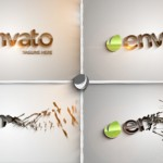 3D清新简洁时尚LOGO演绎AE模板 Videohive Clean Part Logo Intro