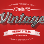 25组复古文字标题MG动画AE模板 Videohive 25 Animated Vintage Titles