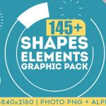 145组MG动画图形元素包AE模板  Videohive Shapes & Elements Graphic Pack