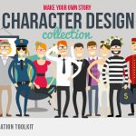CG动画卡通人物包AE模板 Videohive Character Design Animation Toolkit