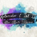 中国风水彩水墨展示AE模板 Videohive Watercolor & Ink Slideshow 2