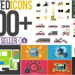 1000+扁平化Icon图标演示MG动画AE模板 videohive Animated Icons 1000+