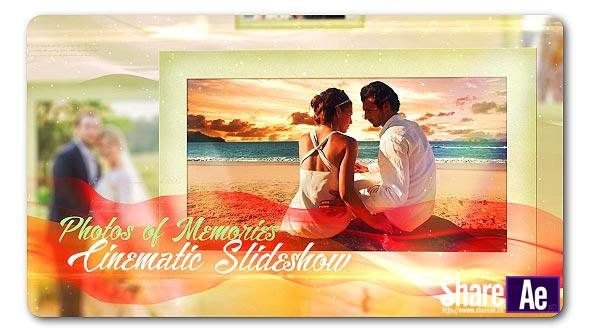 浪漫婚礼相册视频AE模板 Videohive Lovely Slides of Romantic Moments