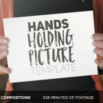 AE模板 17组手持相框实拍图片文字展示 Videohive Hands Holding Pictures  免费下载
