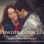 AE模板 艺术粉末洒落遮罩图片展示片头 Videohive Powder Particles 免费下载