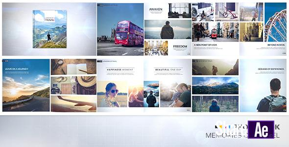 AE模板 旅行回忆记录翻页相册 Videohive Photo Book – Memories of Travel 免费下载